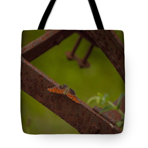 A Butterflys Resting Place Tote Bag by Karol Livote