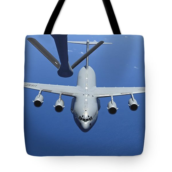 A C-17 Globemaster IIi Approaches Tote Bag by Stocktrek Images