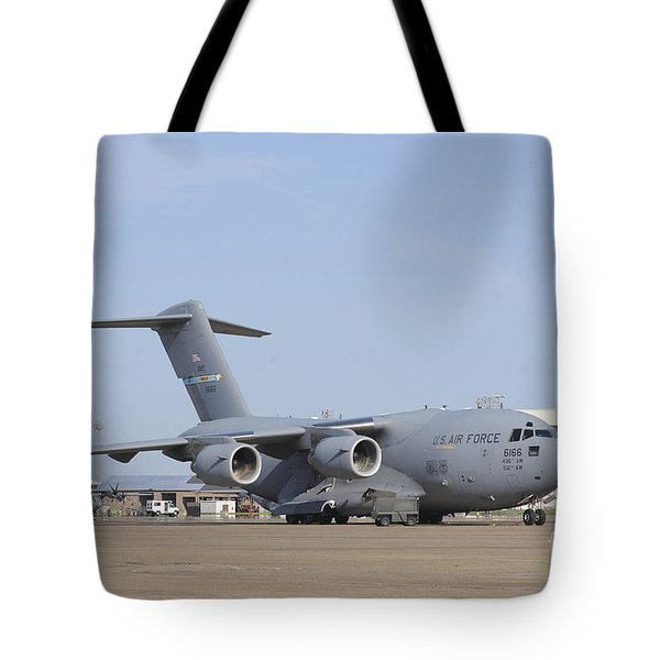 A C-17 Globemaster IIi Parked Tote Bag by Stocktrek Images