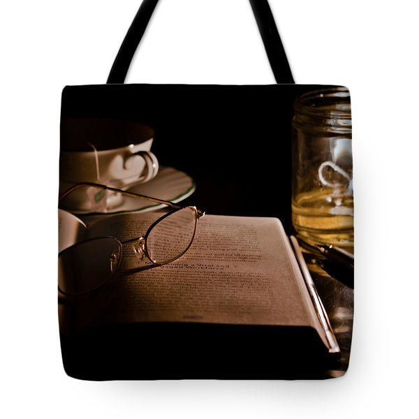 A Candlelight Scene Tote Bag