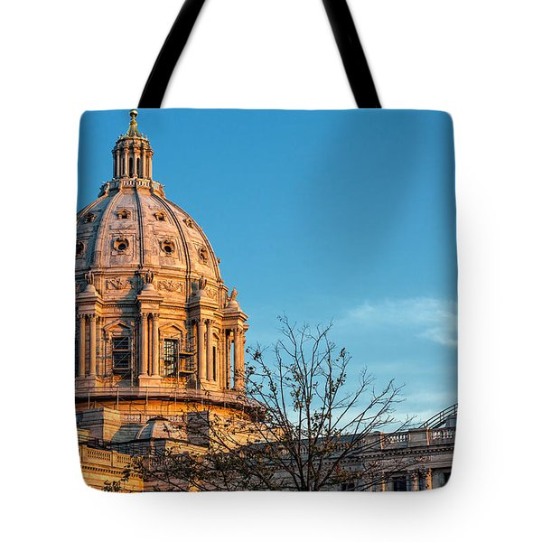 Tote Bag featuring the photograph A Capitol Evening by Tom Gort