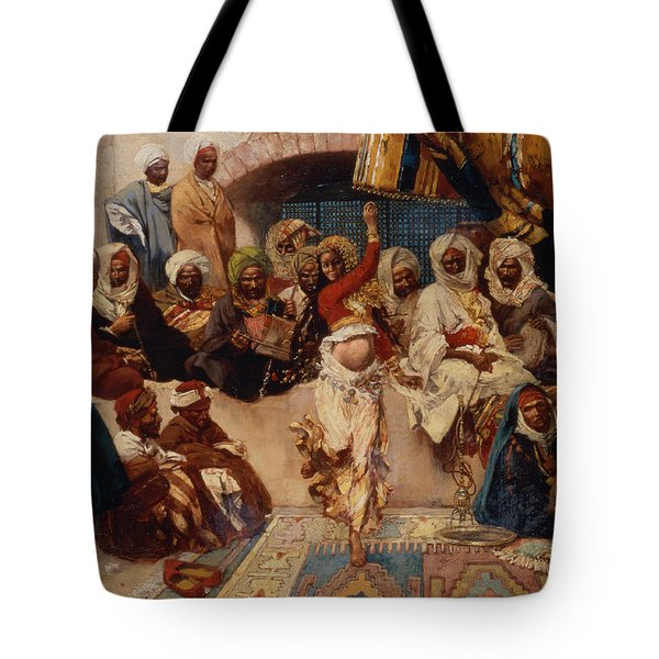 A Captive Audience Tote Bag by Charles Auguste Loye