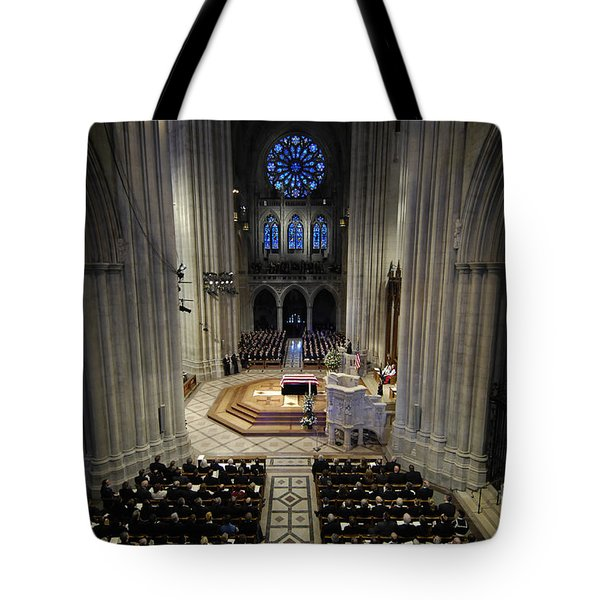 A Casket Lies In Place Tote Bag by Stocktrek Images