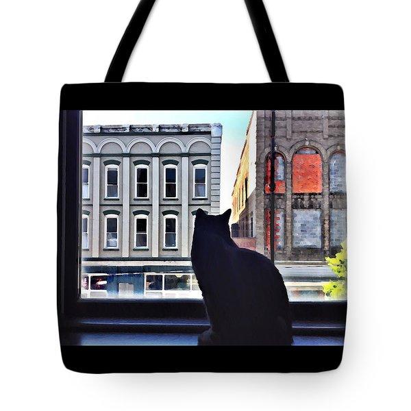A Cat's View Tote Bag
