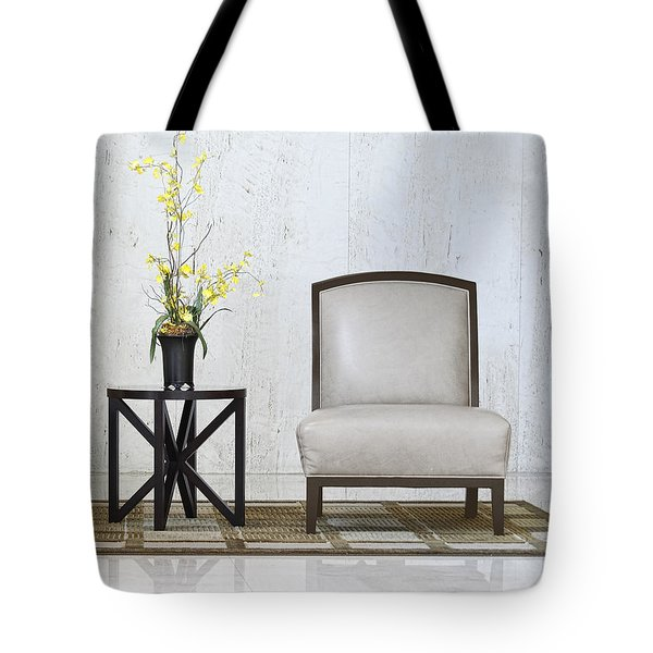 A Chair And A Table With A Plant  Tote Bag
