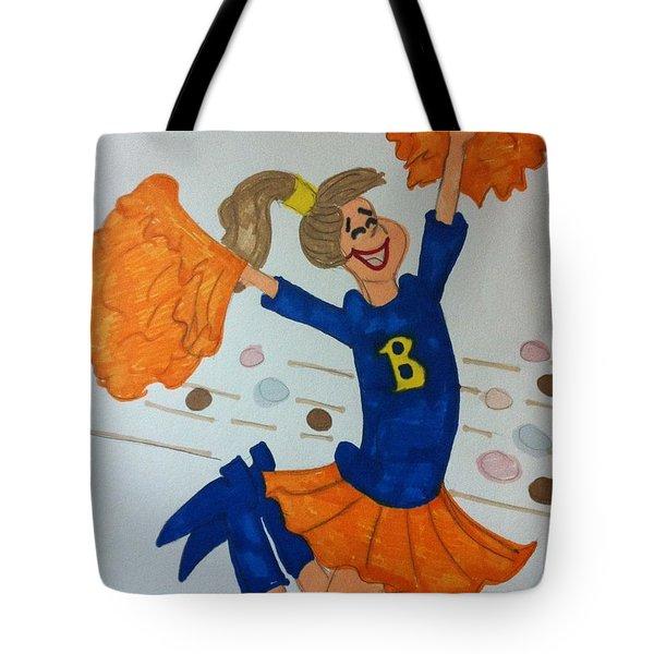 A Cheerful Cheerleader Tote Bag