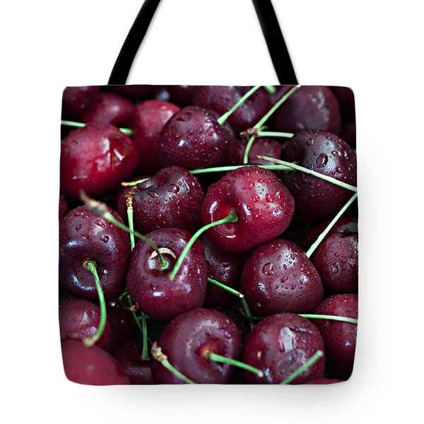 Tote Bag featuring the photograph A Cherry Bunch by Sherry Hallemeier