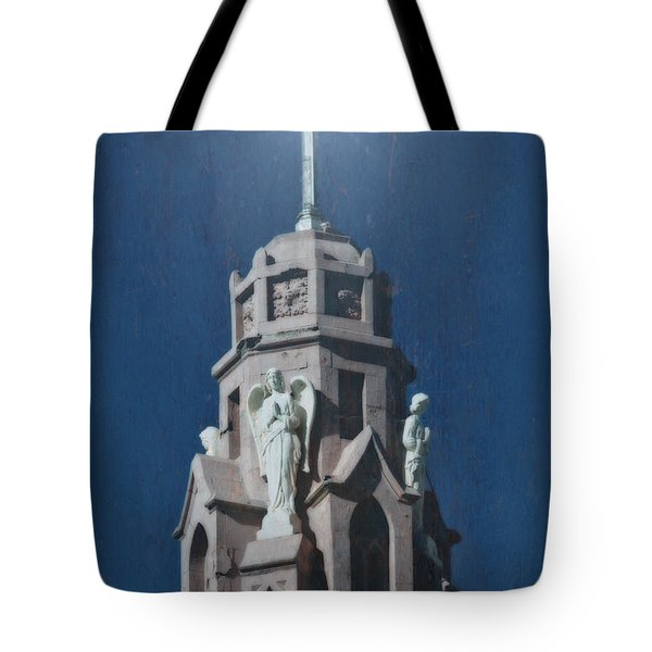 A Church Tower Tote Bag