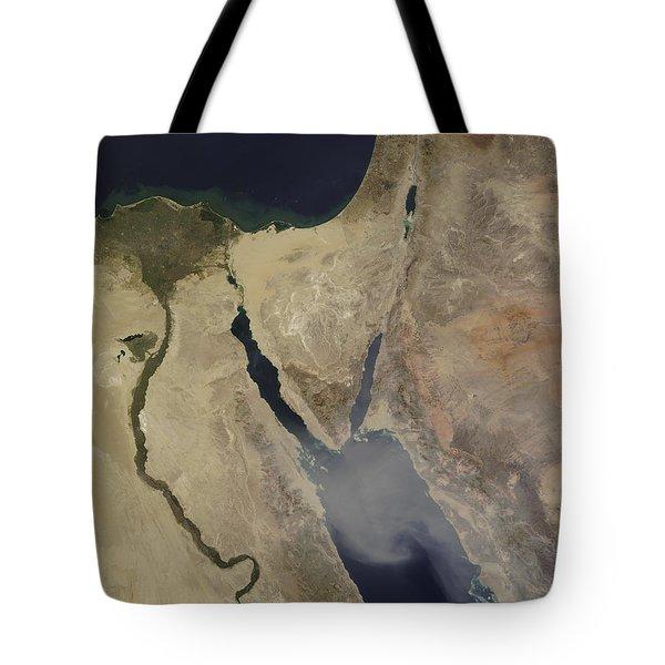 A Cloud Of Tan Dust From Saudi Arabia Tote Bag by Stocktrek Images