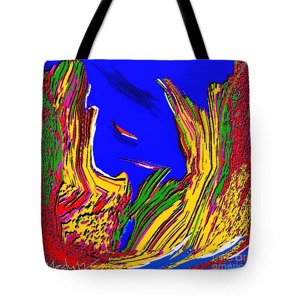 A Coastal View Tote Bag by Nedunseralathan R