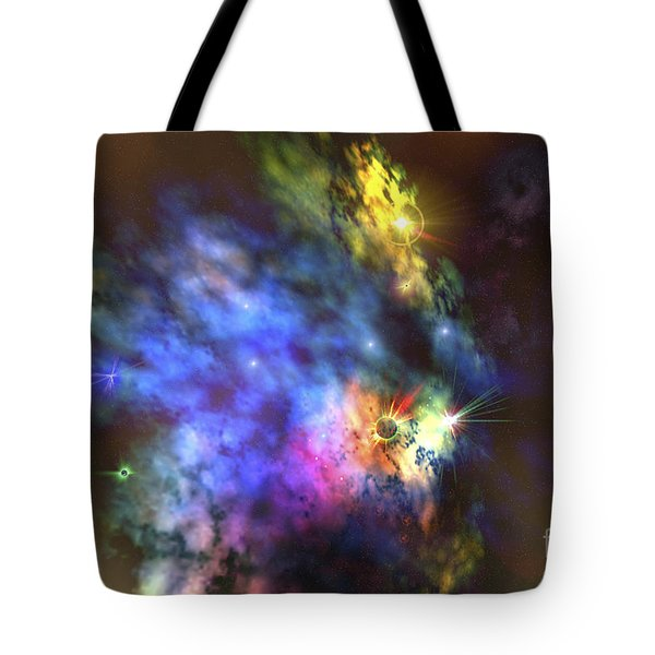A Colorful Nebula In The Universe Tote Bag