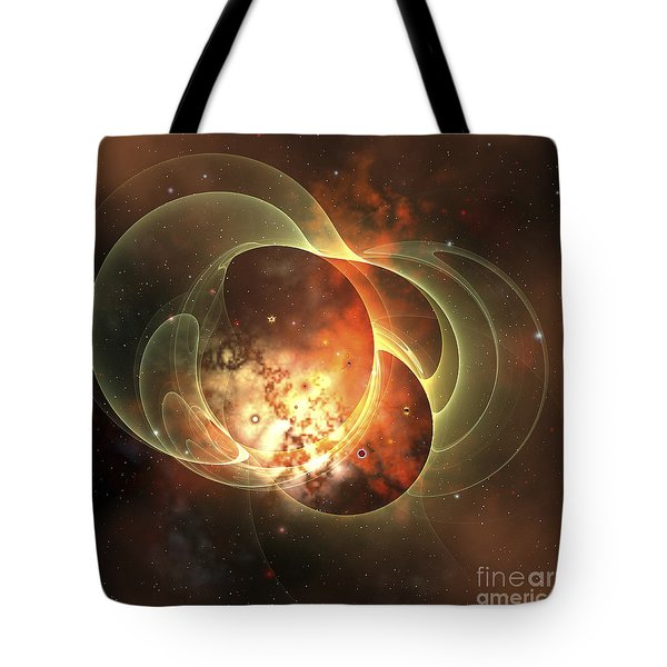 A Constellation Sits Inside Encircling Tote Bag by Corey Ford