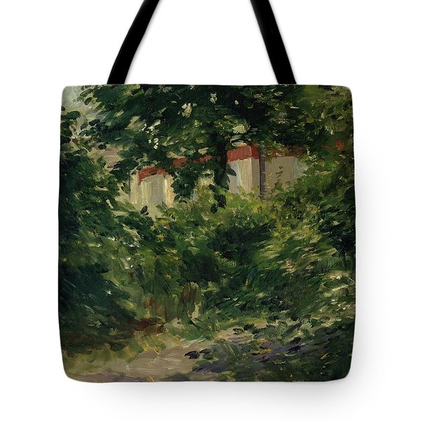 A Corner Of The Garden In Rueil Tote Bag by Edouard Manet