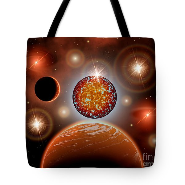 A Cosmic Place Within A Nebula Where Tote Bag by Mark Stevenson