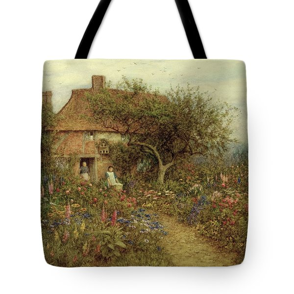 A Cottage Near Brook Witley Surrey Tote Bag by Helen Allingham