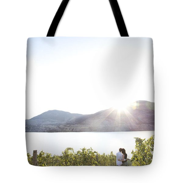A Couple Hugs In The Afternoon Sun Tote Bag