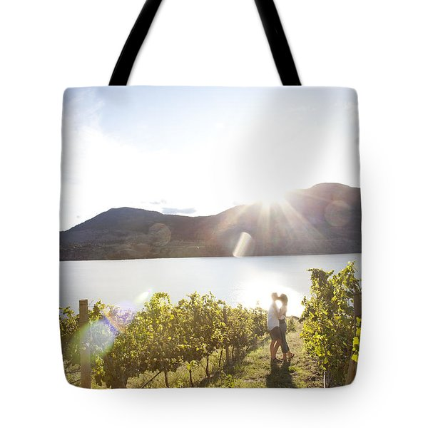 A Couple Kisses In The Afternoon Sun Tote Bag