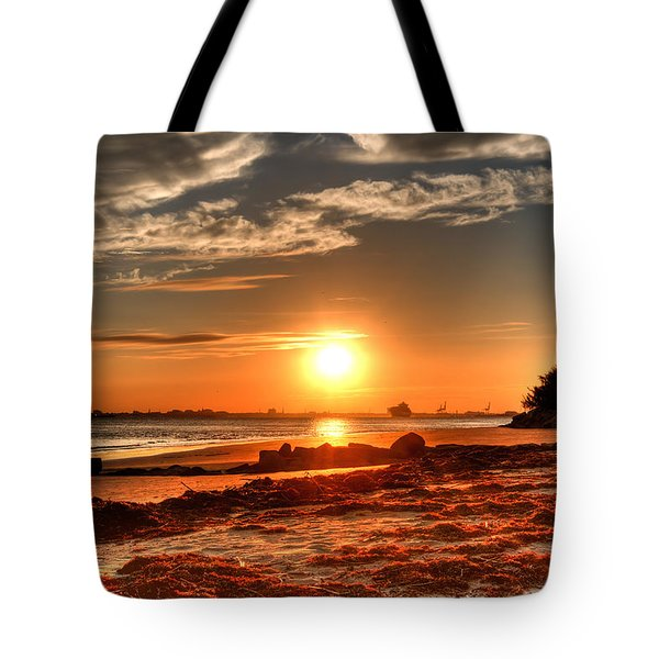 A Day Ends Over Charleston Tote Bag