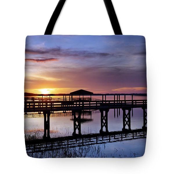 A December Sky Tote Bag by Phill Doherty