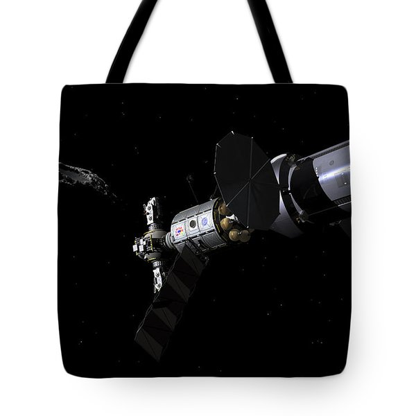 A Deep Space Mission Vehicle Tote Bag by Walter Myers