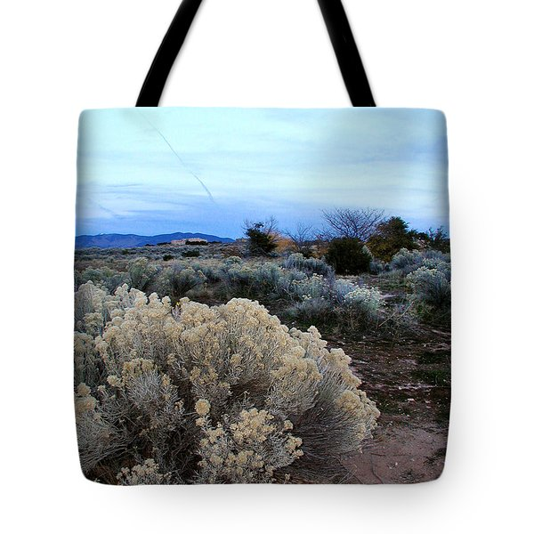 A Desert View After Sunset Tote Bag by Kathleen Grace