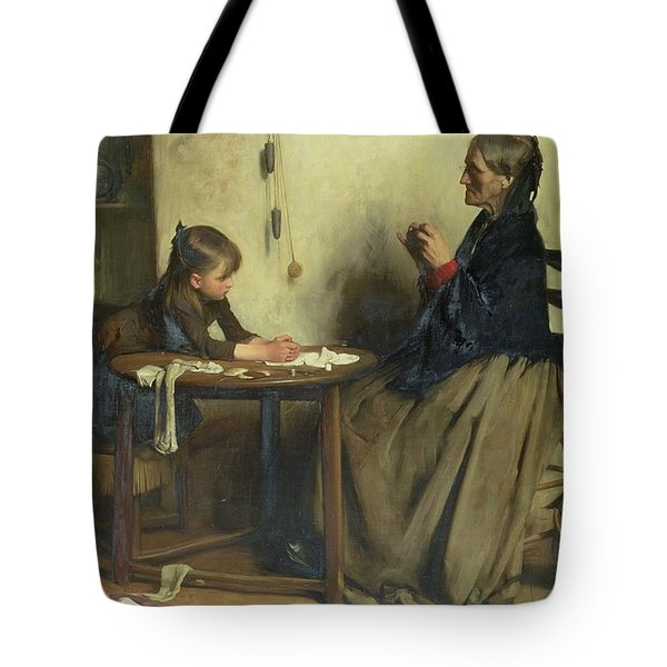 A Difficulty Tote Bag by Arthur Hacker