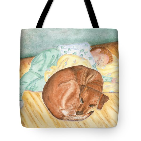 A Dog And Her Boy Tote Bag