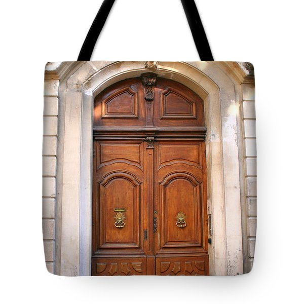 Tote Bag featuring the photograph A Door In Arles by Laurel Talabere