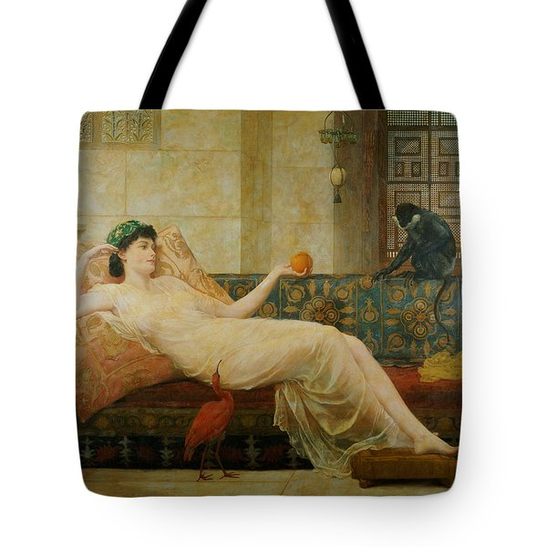 A Dream Of Paradise Tote Bag by Frederick Goodall