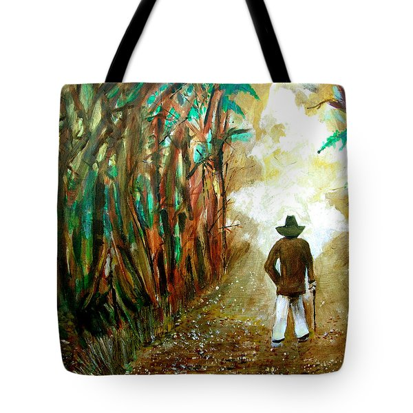 A Fall Walk In The Woods Tote Bag