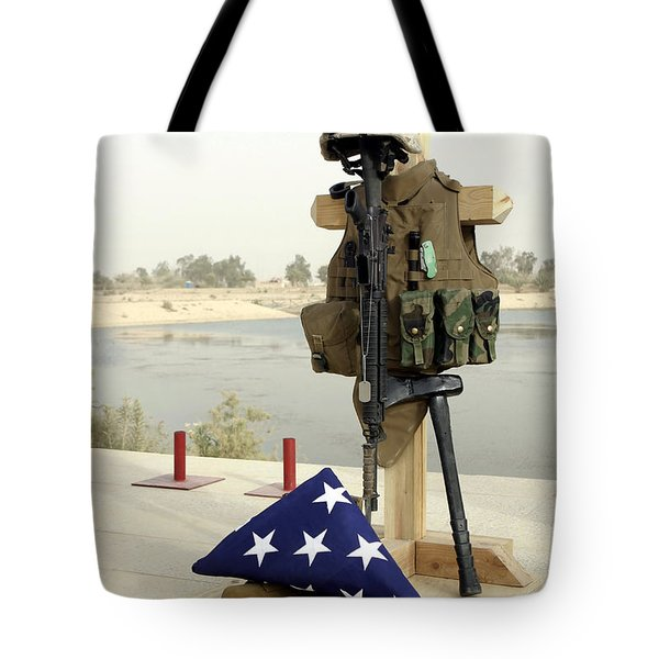 A Fallen Soldiers Gear Display Tote Bag by Stocktrek Images