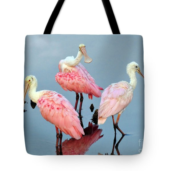 Tote Bag featuring the photograph A Family Gathering by Kathy Baccari
