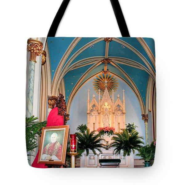 A Farewell To Pope John Paul II Tote Bag by Kristin Elmquist