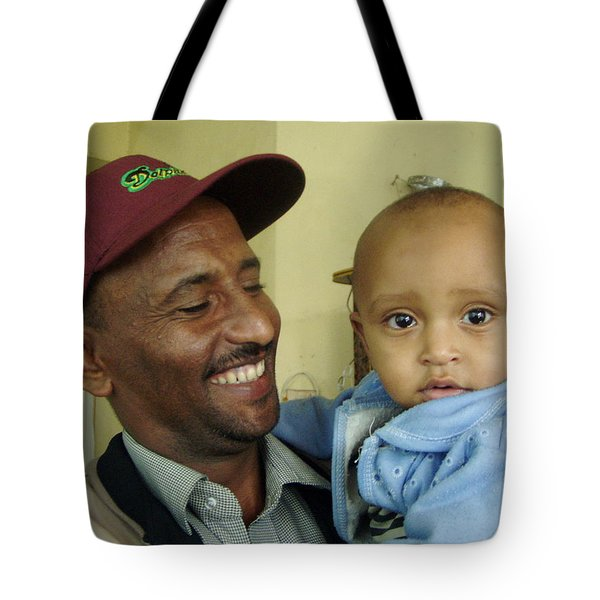 Tote Bag featuring the photograph A Father's Pride And Joy by Laurel Talabere