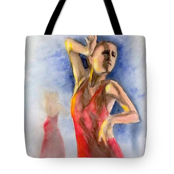 A Flamenco Dancer  2 Tote Bag by Yoshiko Mishina