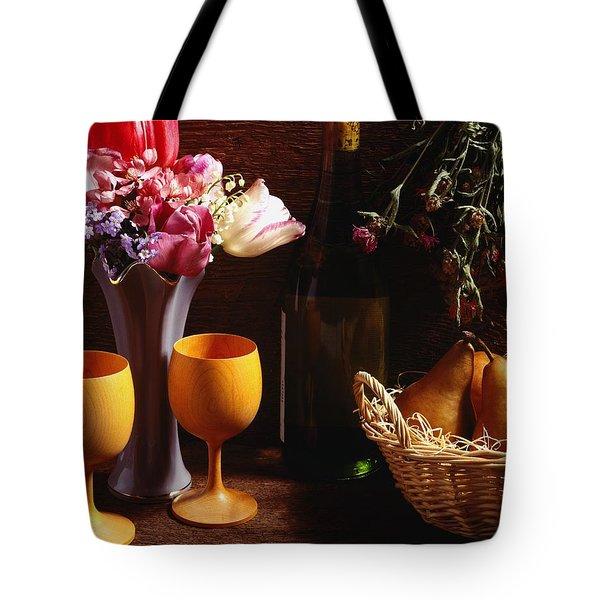 A Floral Display Tote Bag by David Chapman