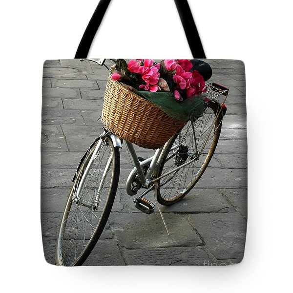 Tote Bag featuring the photograph A Flower Delivery by Vivian Christopher
