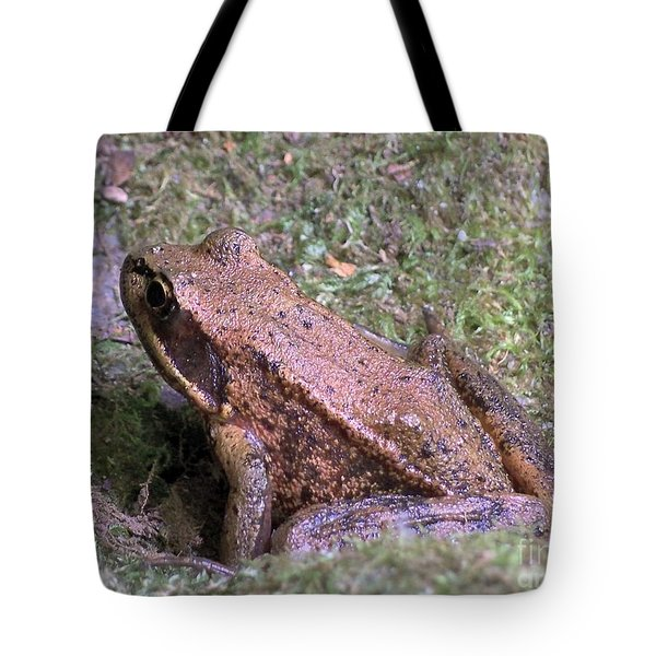Tote Bag featuring the photograph A Friendly Frog by Chalet Roome-Rigdon