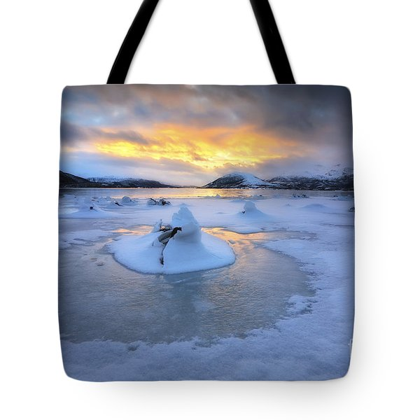 A Frozen Fjord That Is Part Tote Bag by Arild Heitmann