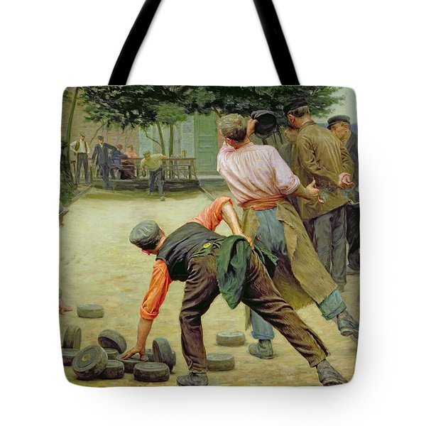 A Game Of Bourles In Flanders Tote Bag by Remy Cogghe
