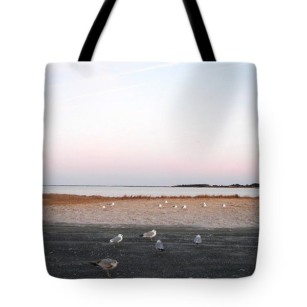 Tote Bag featuring the photograph A Gathering On Rehoboth Bay by Pamela Hyde Wilson