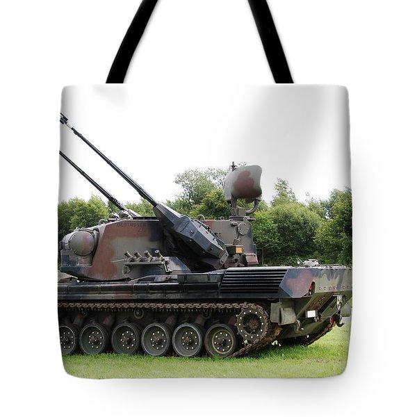 A Gepard Anti-aircraft Tank Tote Bag by Luc De Jaeger