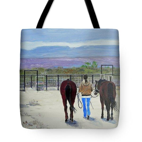Texas - A Good Ride Tote Bag by Christine Lathrop