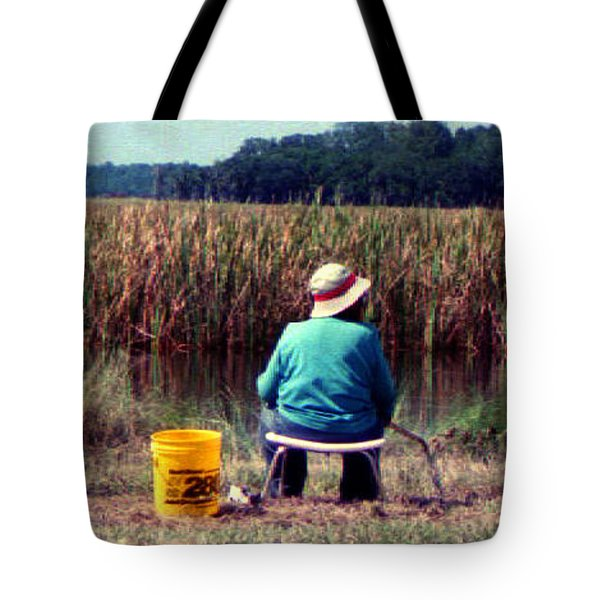 A Great Day Fishing Tote Bag by Patricia Greer