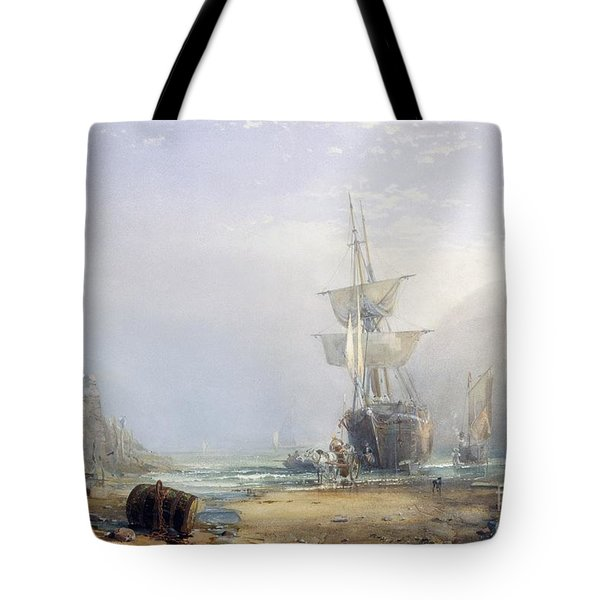 A Hazy Morning On The Coast Of Devon Tote Bag by Samuel Phillips Jackson