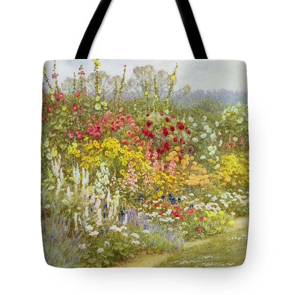 A Herbaceous Border Tote Bag by Helen Allingham