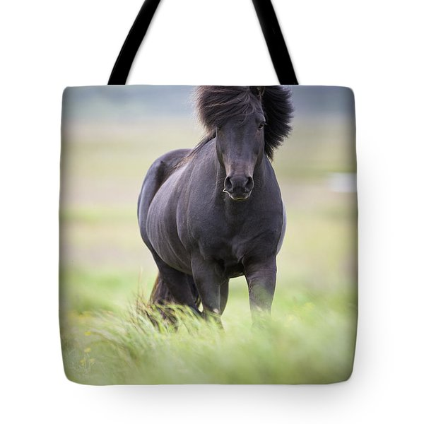 A Horse With Its Mane Blowing In The Tote Bag by David DuChemin