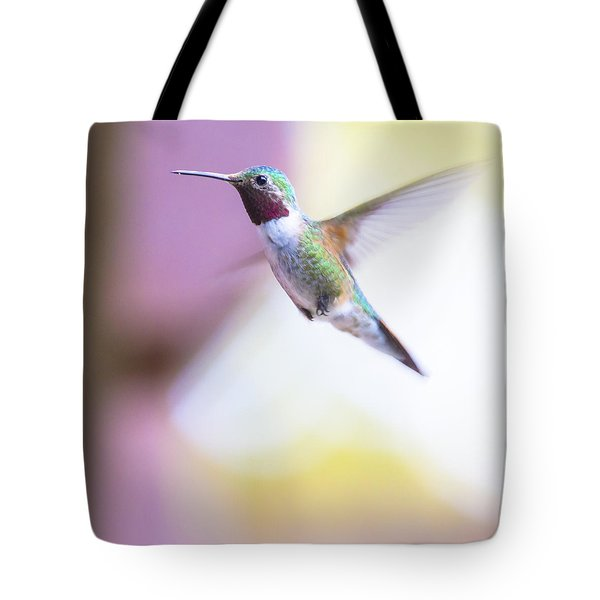 A Humming Bird In The Rocky Mountains Tote Bag by Ellie Teramoto