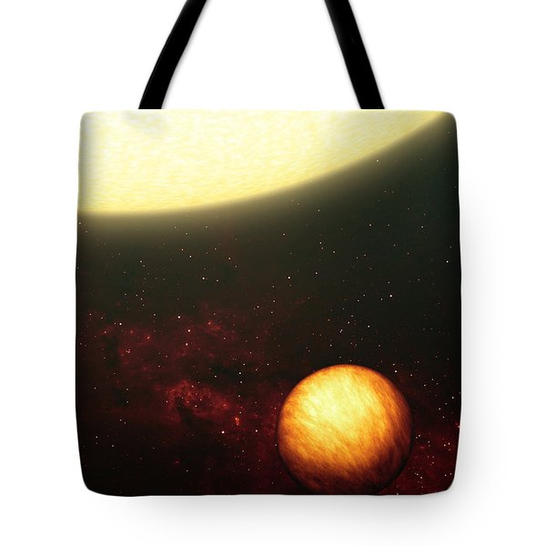 A Jupiter-like Planet Soaking Tote Bag by Stocktrek Images