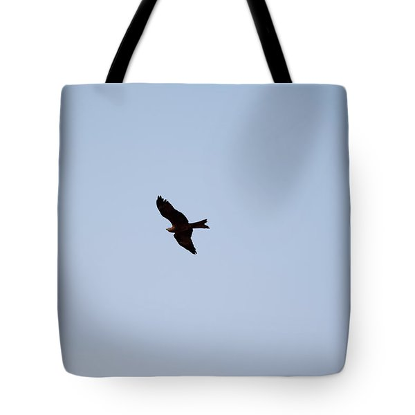 Tote Bag featuring the photograph A Kite Flying High In The Sky by Ashish Agarwal
